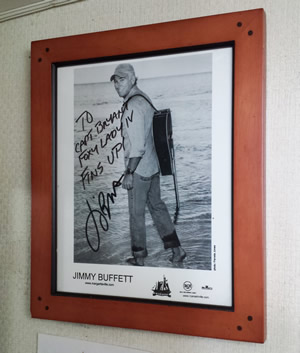Captain Bryant is a Jimmy-Buffet Fan