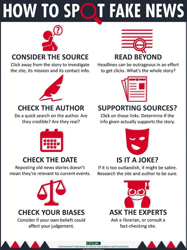 tips to spot fake news