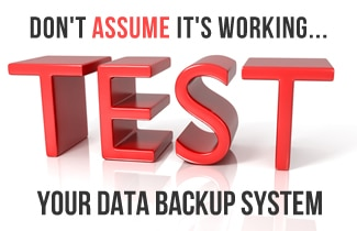 test data backup system