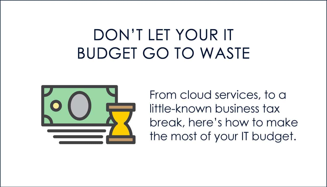 IT budget tips