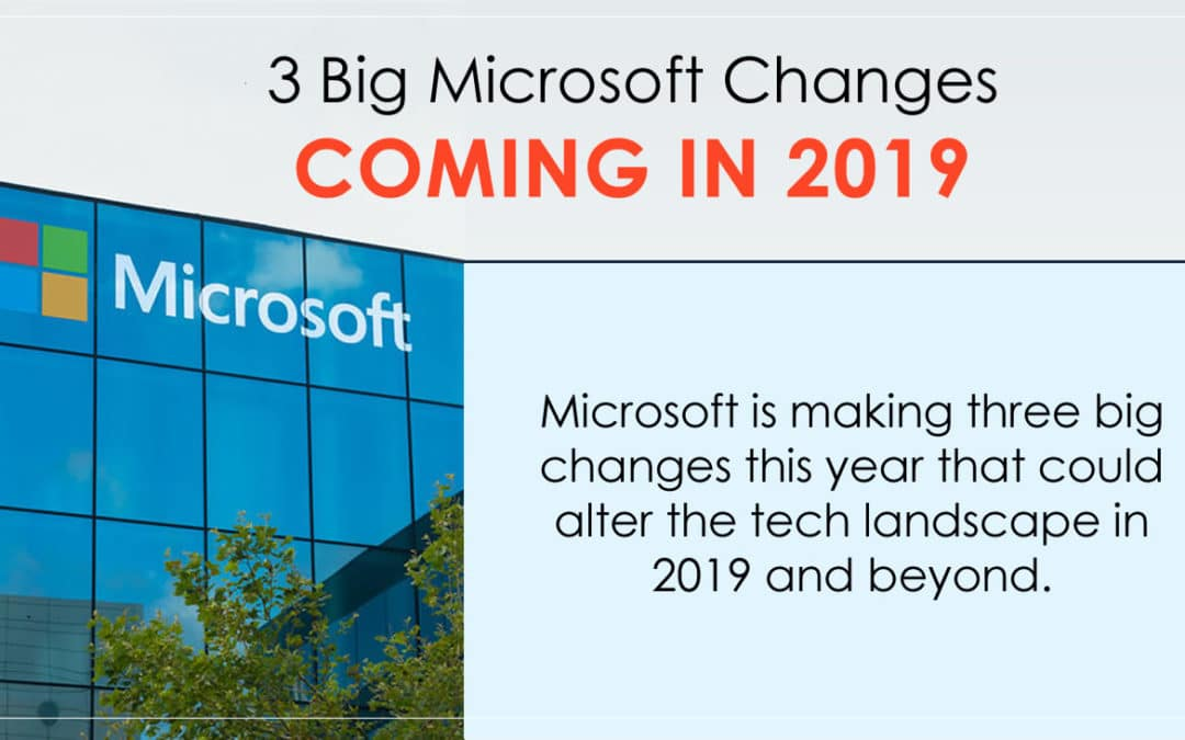 3 Big Microsoft Changes Coming in 2019