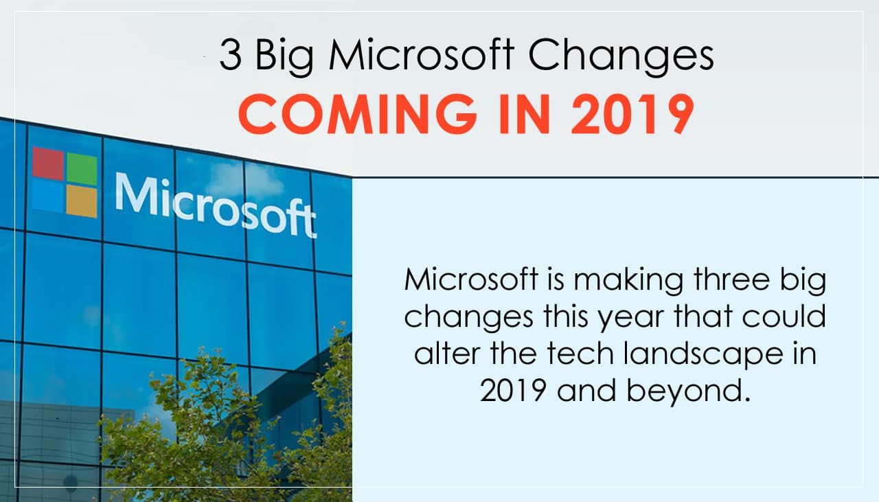 3 big Microsoft changes