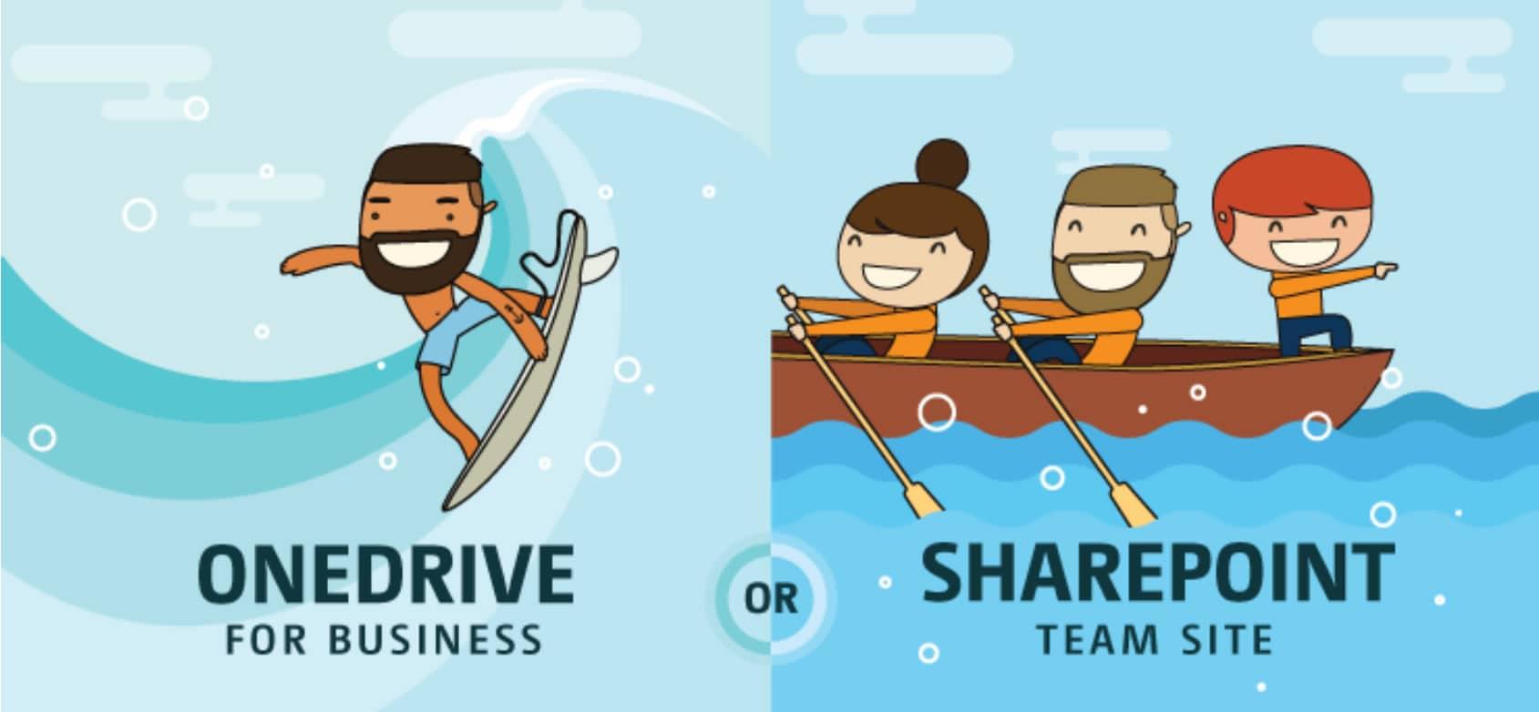 OneDrive vs SharePoint