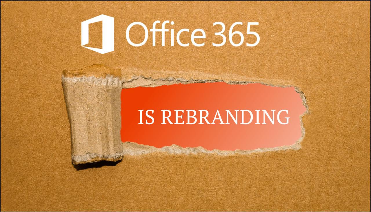 office 365 rebranding web